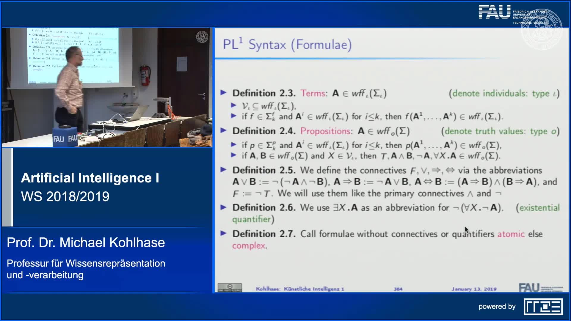 Recap Clip 13.3: First-Order Logic: Syntax and Semantics preview image