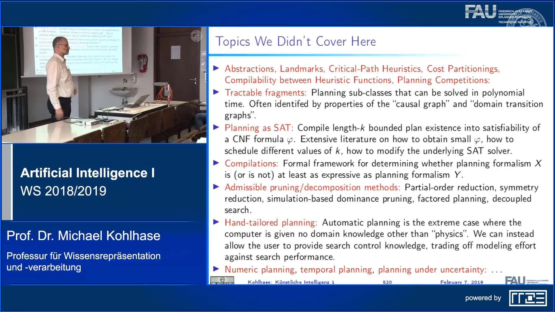 Recap Clip 17.5: Planning Algorithms: Conclusion preview image