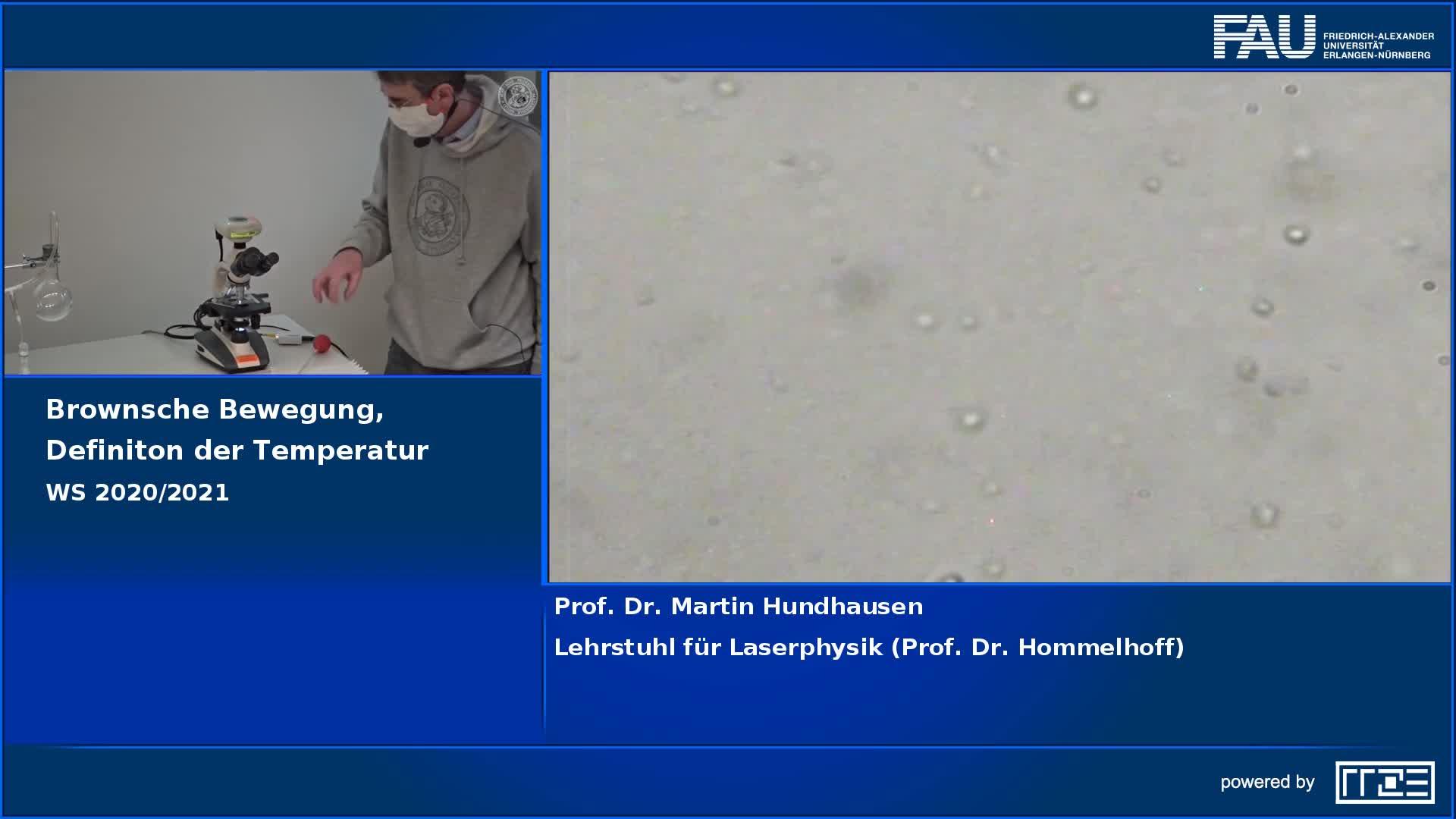 Brownsche Bewegung, Definition der Temperatur preview image