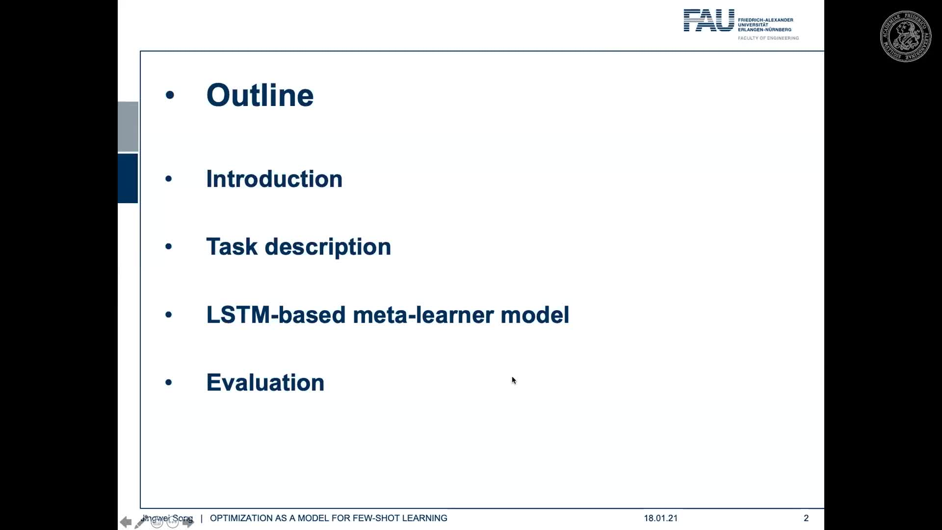 Seminar Meta Learning (SemMeL) - Jingwei Song - Optimization as a Model for Few-Shot Learning preview image