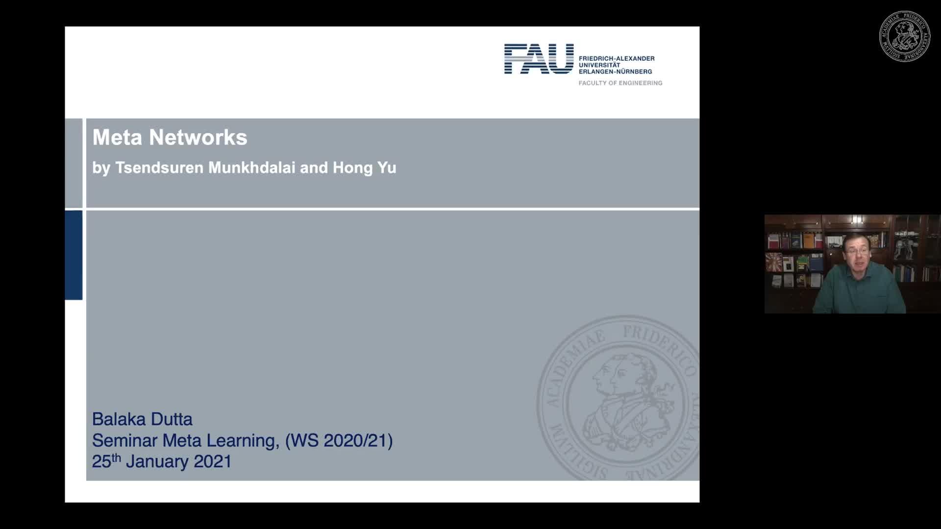 Seminar Meta Learning (SemMeL) - Balaka Dutta - Meta Networks preview image