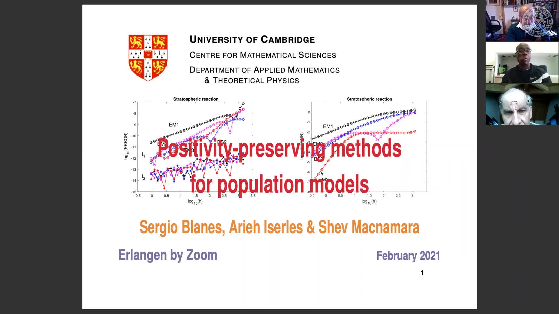 Positivity-preserving methods for population models (Arieh Iserles, University of Cambridge, UK) preview image