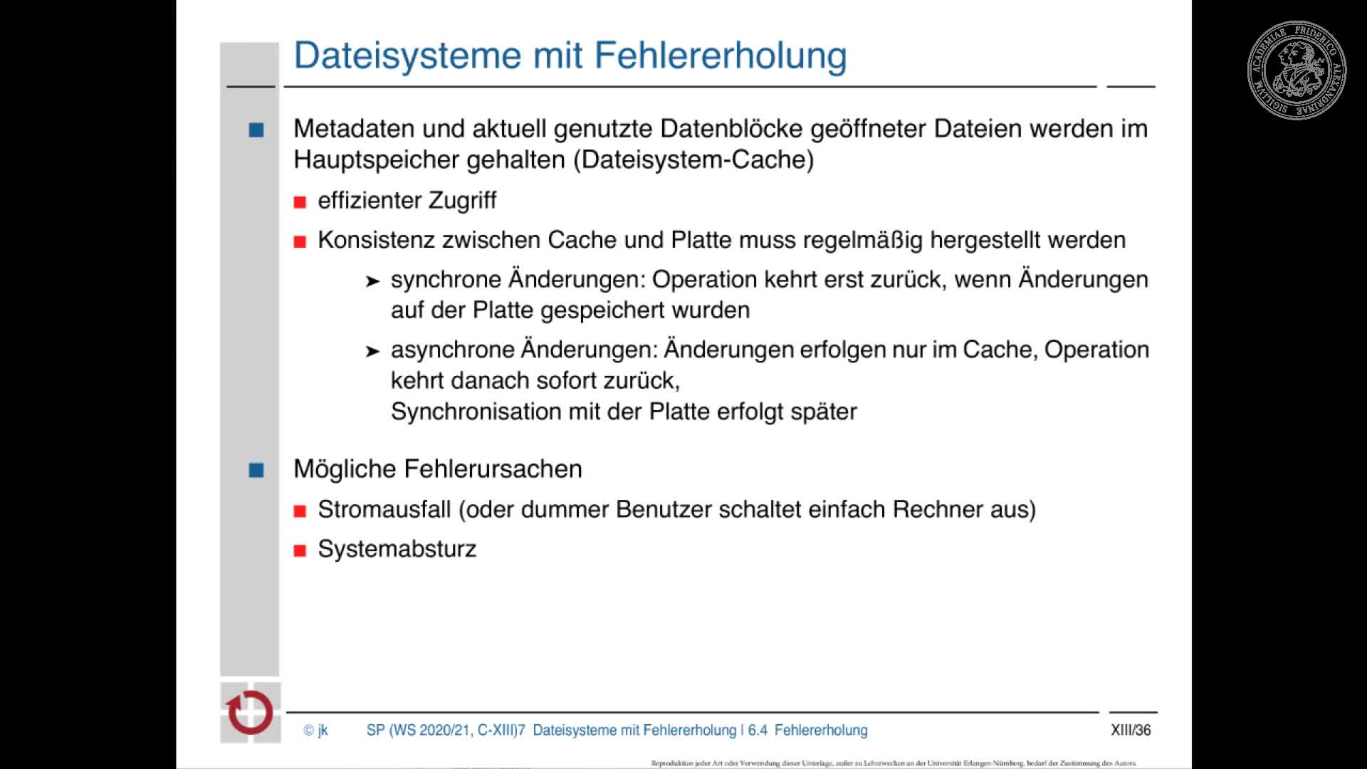 2.2. Dateisysteme mit Fehlererholung preview image