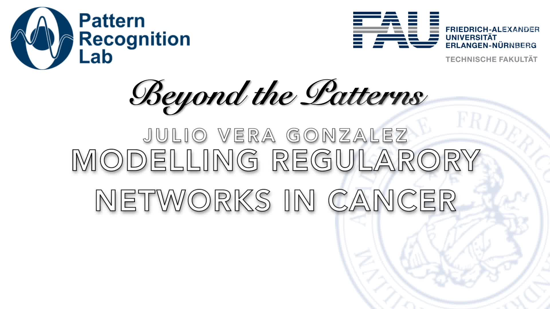 Beyond the Patterns - Julio Vera Gonzalez - Computational modelling of gene regulatory networks in cancer preview image