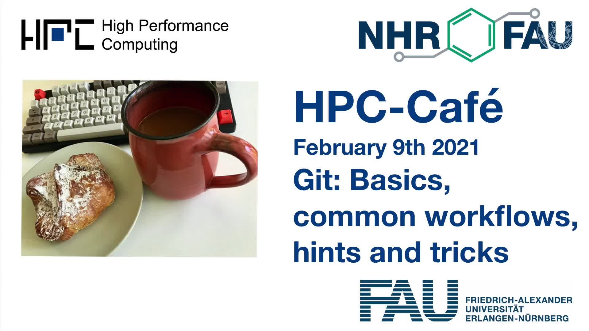 HPC Cafe: Git: introduction, workflows, hints and tricks preview image