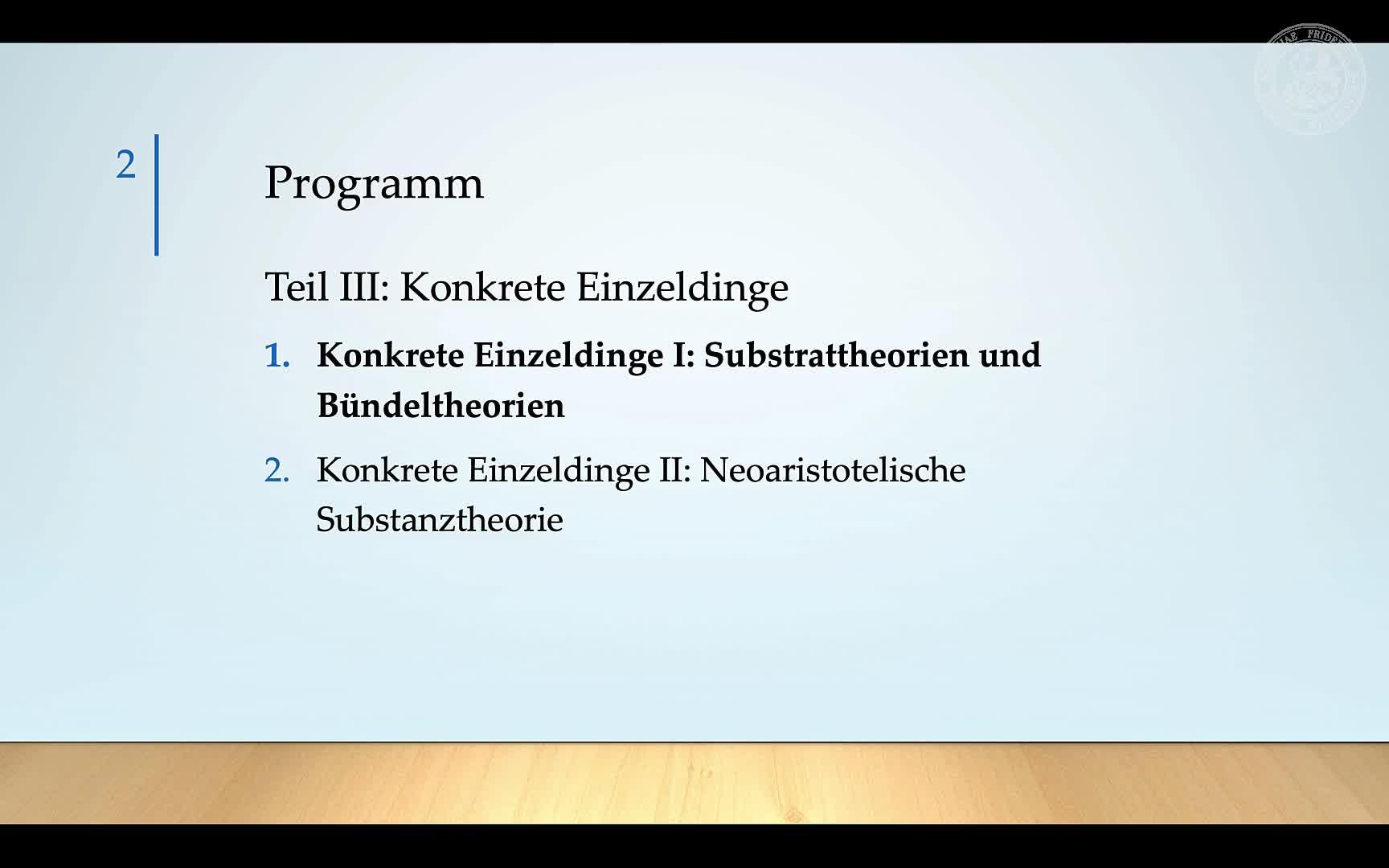 4.1.: Konkrete Einzeldinge (3.4.): Substrattheorie und Bündeltheorie III preview image