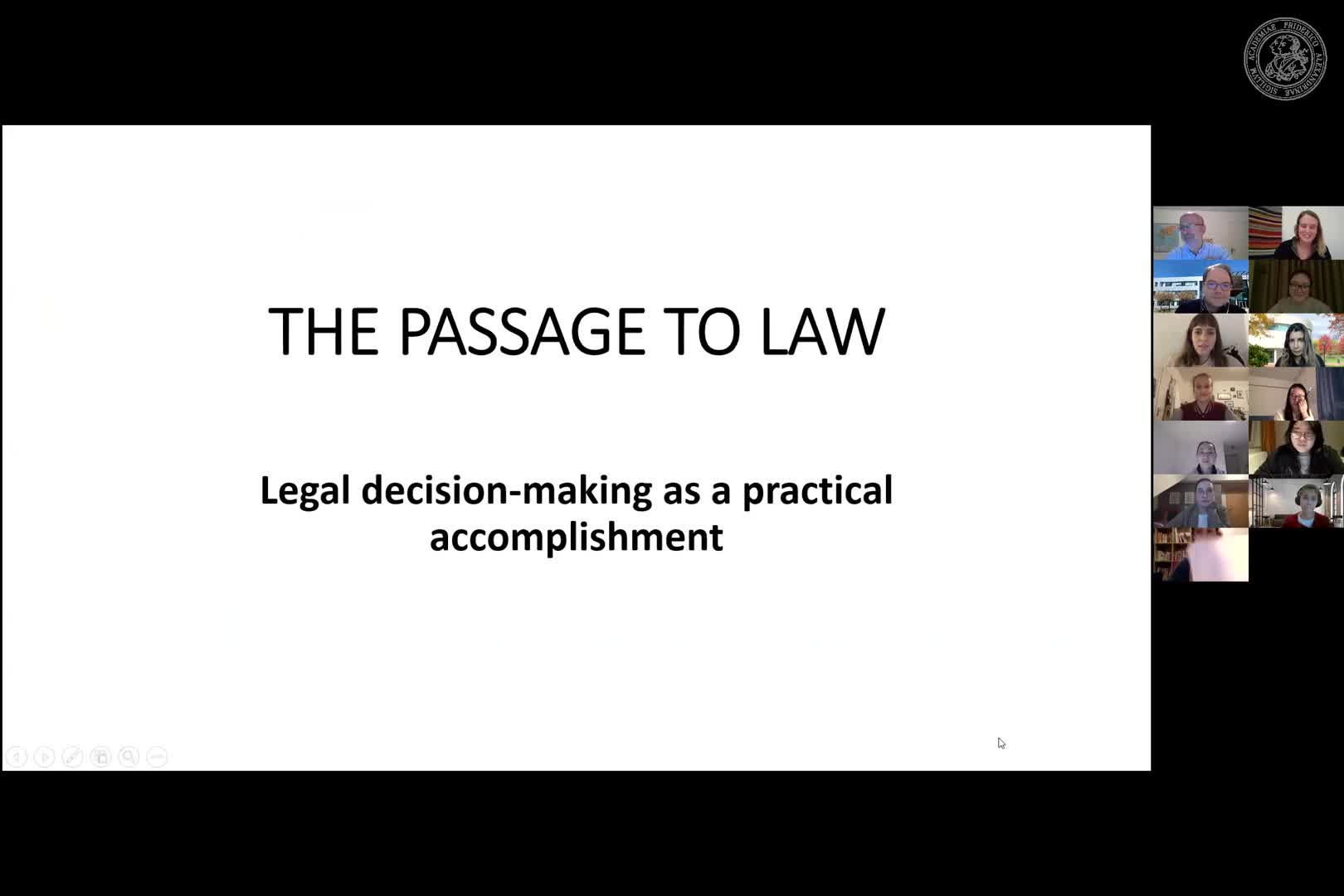 """Baudouin Dupret (CNRS, France): """"Characterizing the World: Legal Decision Making and the Passage from Facts to Rule"""" preview image"""