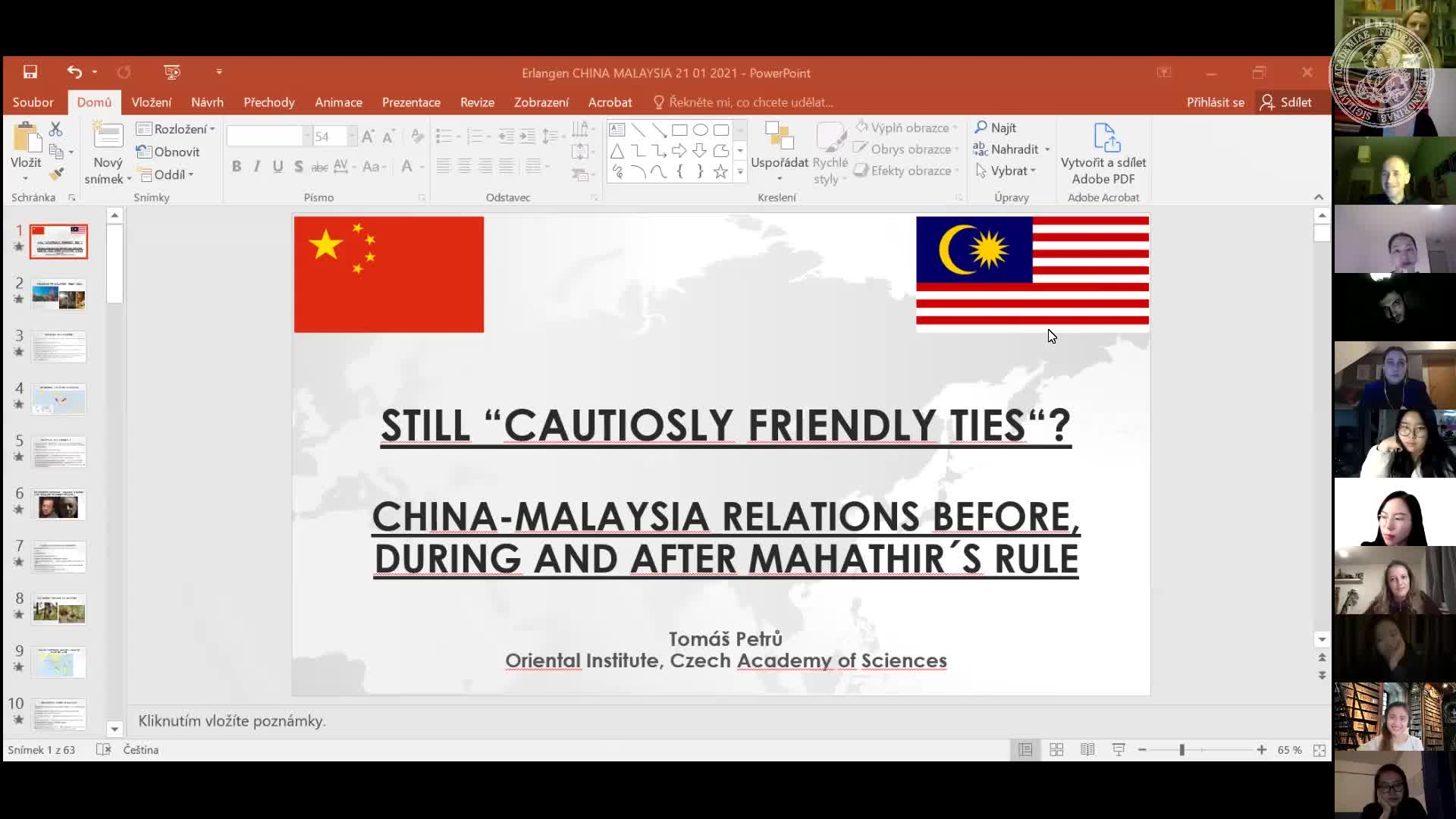 """Tomas Petru (Czech Academy of Sciences): """"Still Cautiously Friendly Ties? China-Malaysia Relations Before, During, and After Mahathirs Second Rule (2018-February 2020)"""" preview image"""