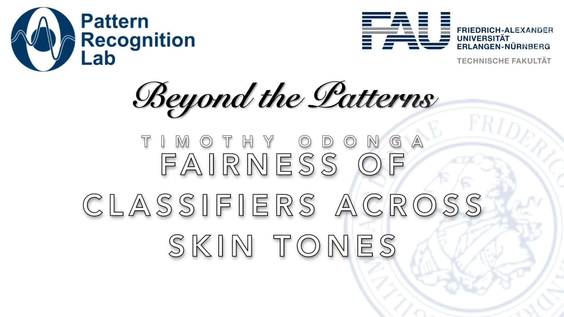 Beyond the Patterns - Timothy Odonga – Fairness of Classifiers Across Skin Tones in Dermatology preview image