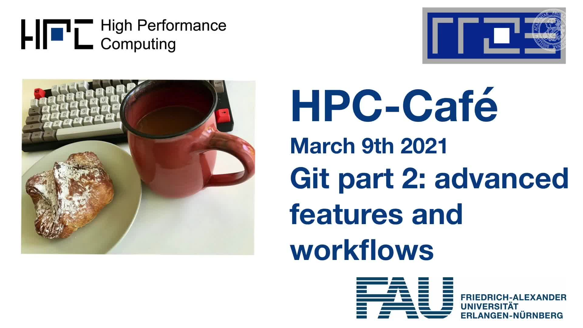 HPC Cafe: Git part 2 - advanced features and workflows preview image