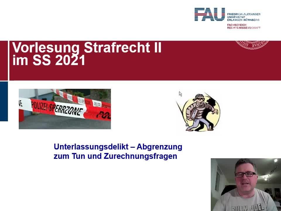 Unterlassungsdelikt: Abgrenzung Tun - Unterlassen und Zurechnungsfragen preview image