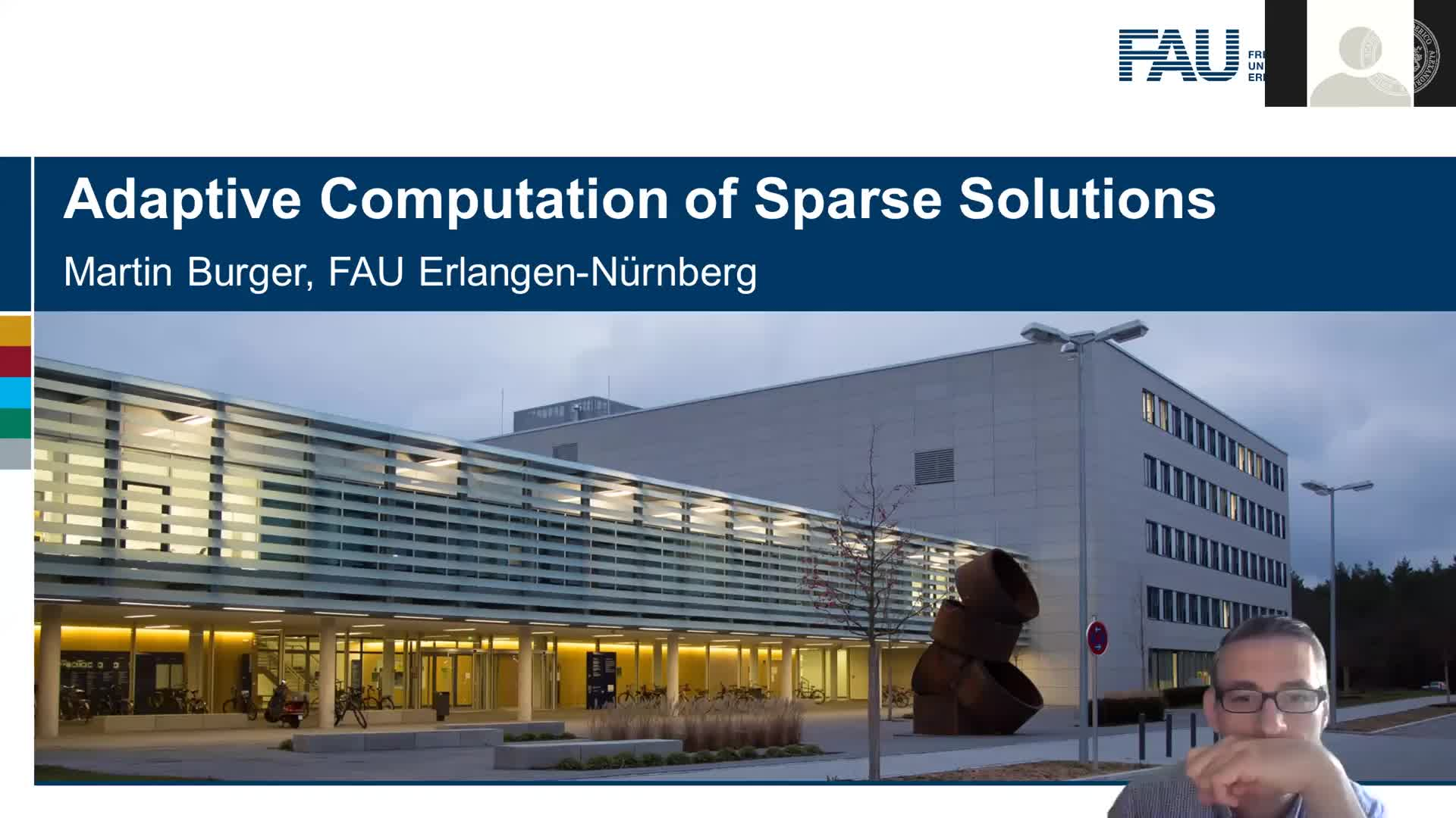 Adaptive Computation of Sparse Solutions (M. Burger, FAU, Germany) preview image