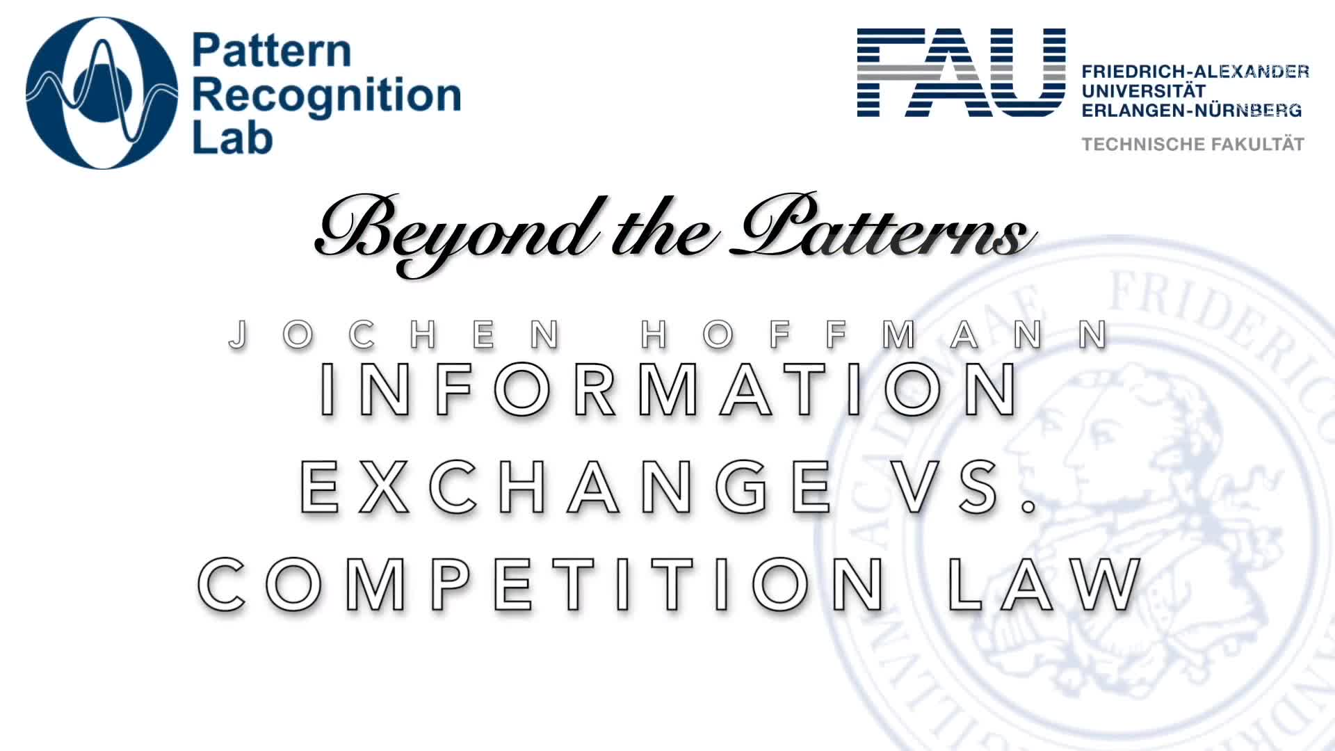 Beyond the Patterns - Jochen Hoffmann - Information exchange as an infringement of competition law preview image