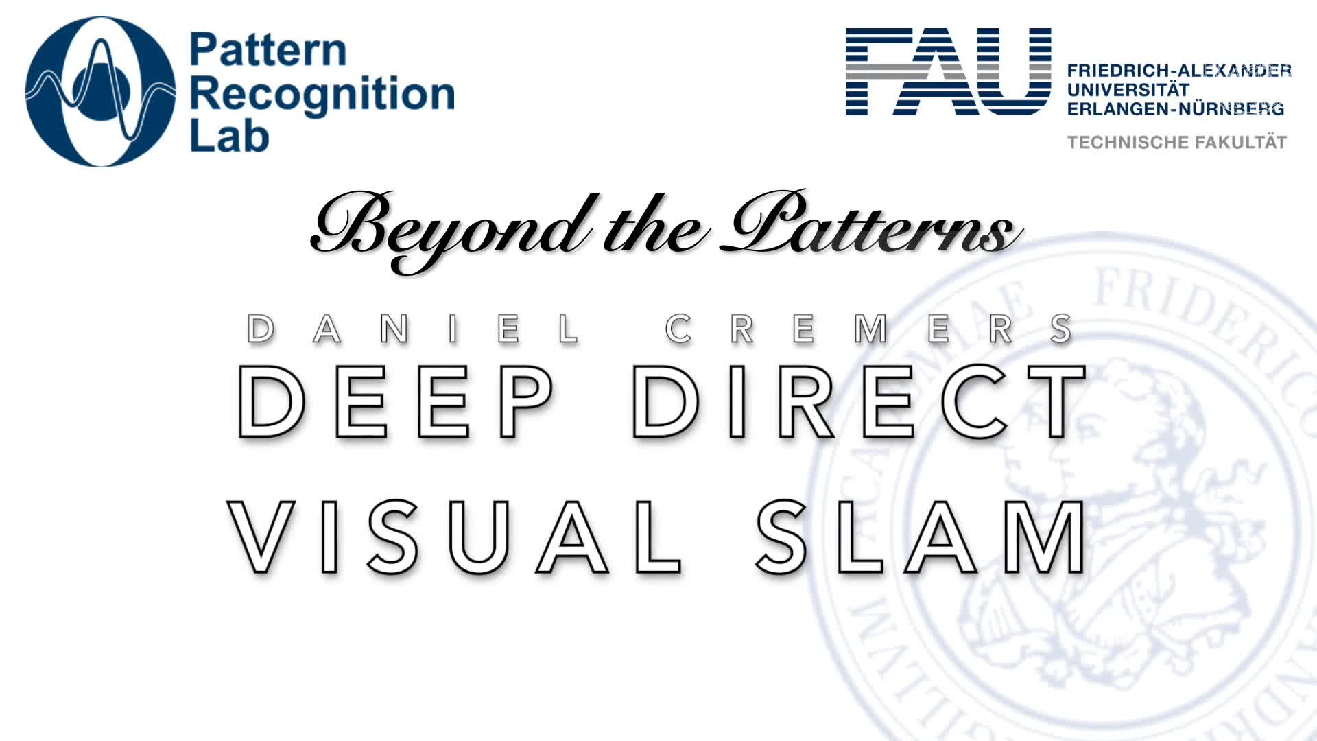 Beyond the Patterns - Daniel Cremers - Deep Direct Visual SLAM preview image