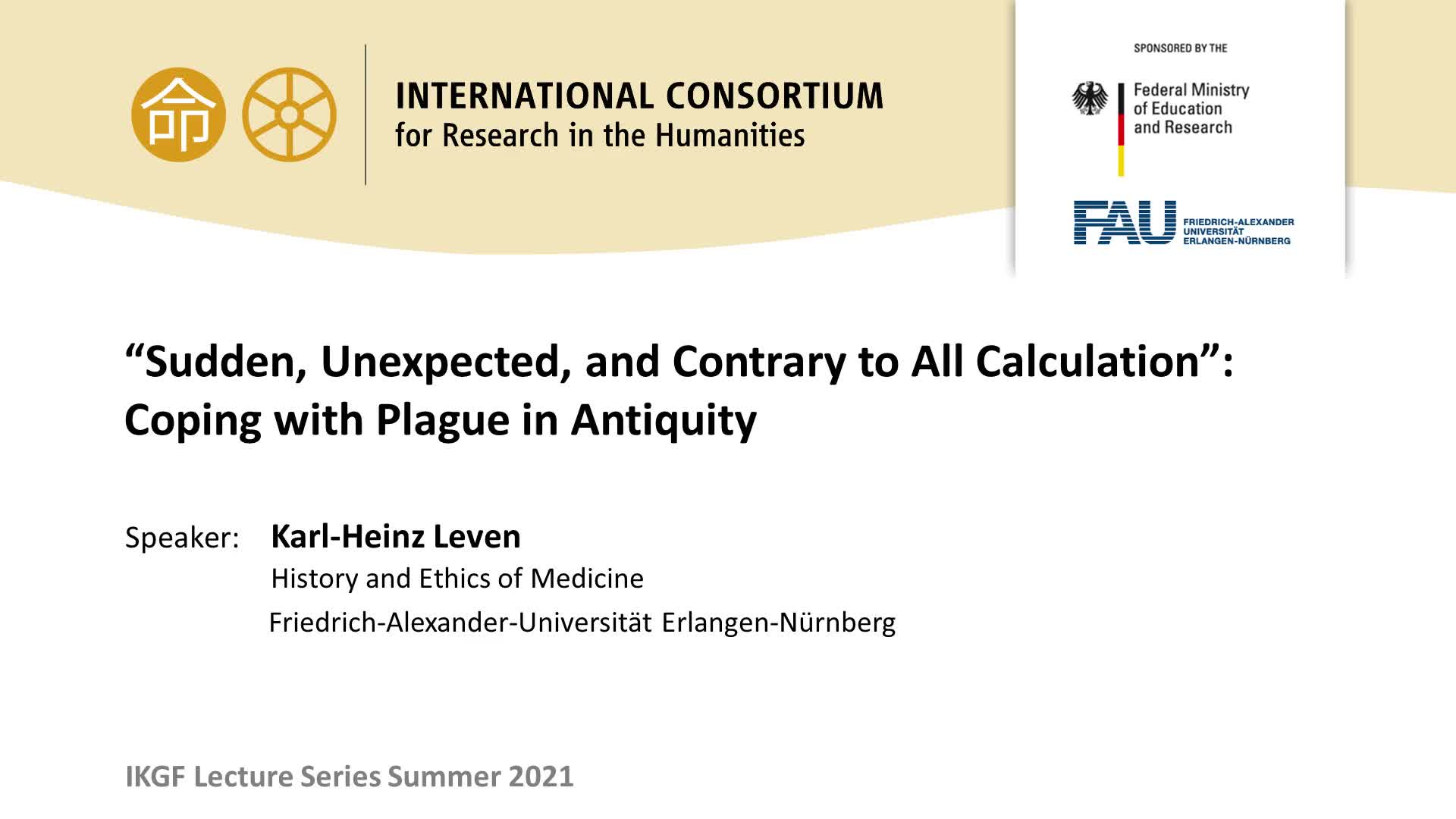 """Sudden, Unexpected, and Contrary to All Calculation"": Coping with Plague in Antiquity preview image"