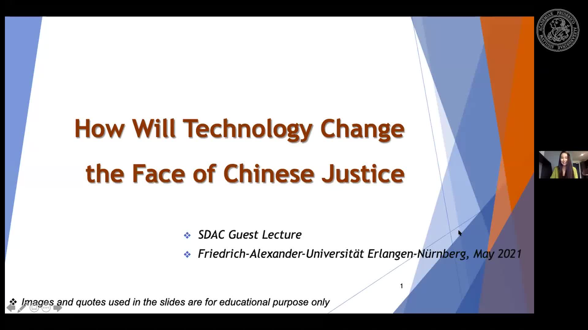 """Zhiyu Li (Durham University): """"How Will Technology Change the Face of Chinese Justice?"""" preview image"""