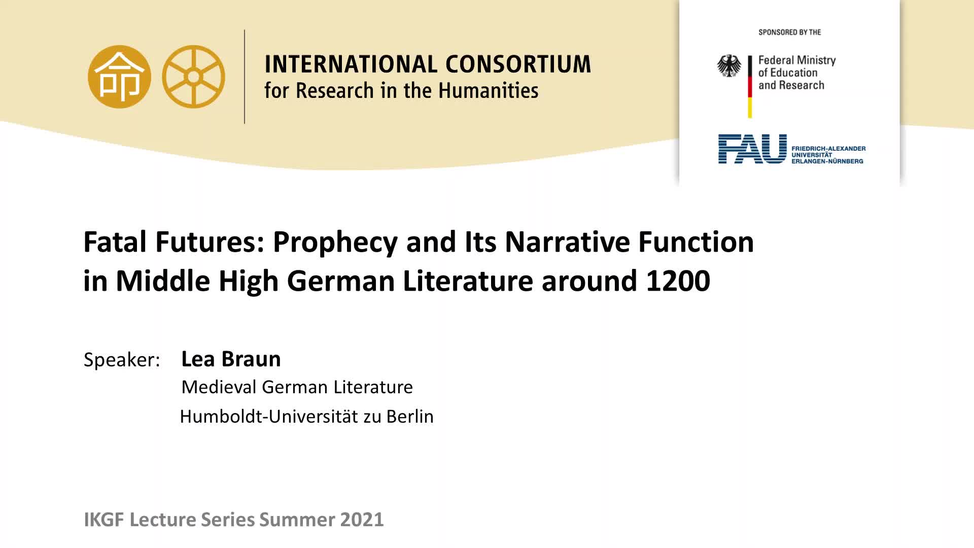 Fatal Futures: Prophecy and Its Narrative Function in Middle High German Literature around 1200 preview image
