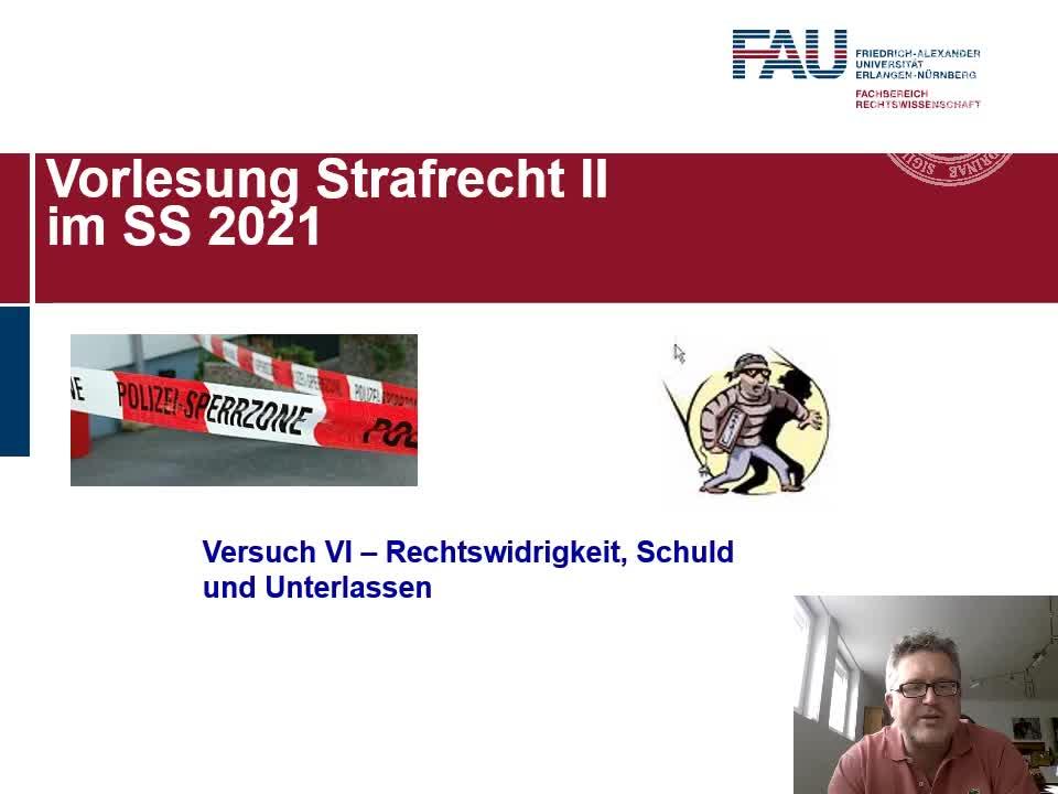 Versuch VI (Rechtswidrigkeit - Schuld - Unterlassen) preview image
