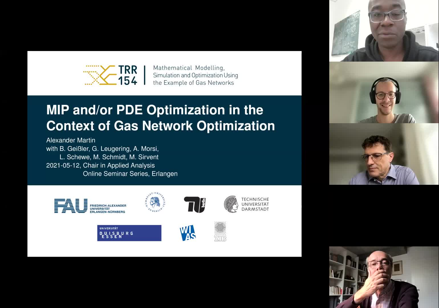 MIP and/or PDE optimization in the context of gas network optimization (A. Martin, FAU, Fraunhofer Institute IIS,  Germany) preview image