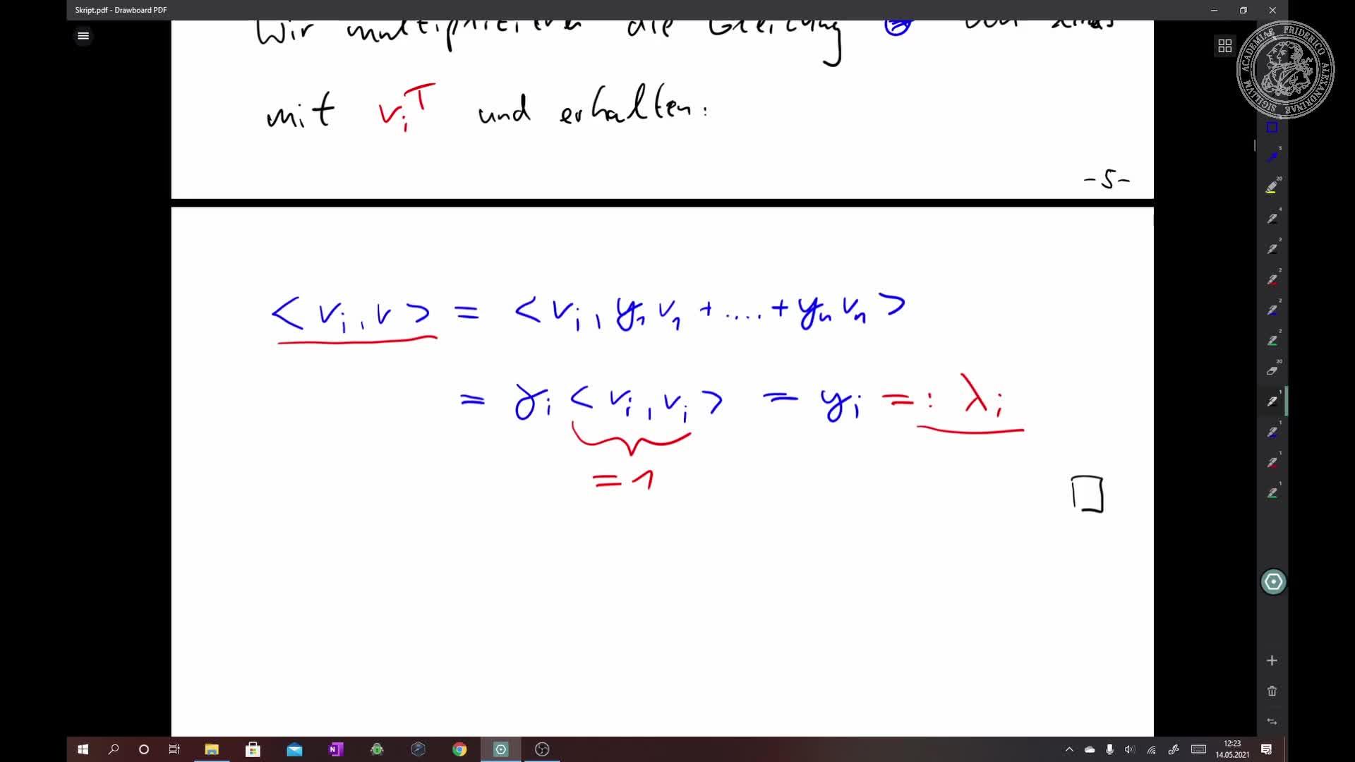 Gram-Schmidt-Orthogonalisierungsverfahren preview image