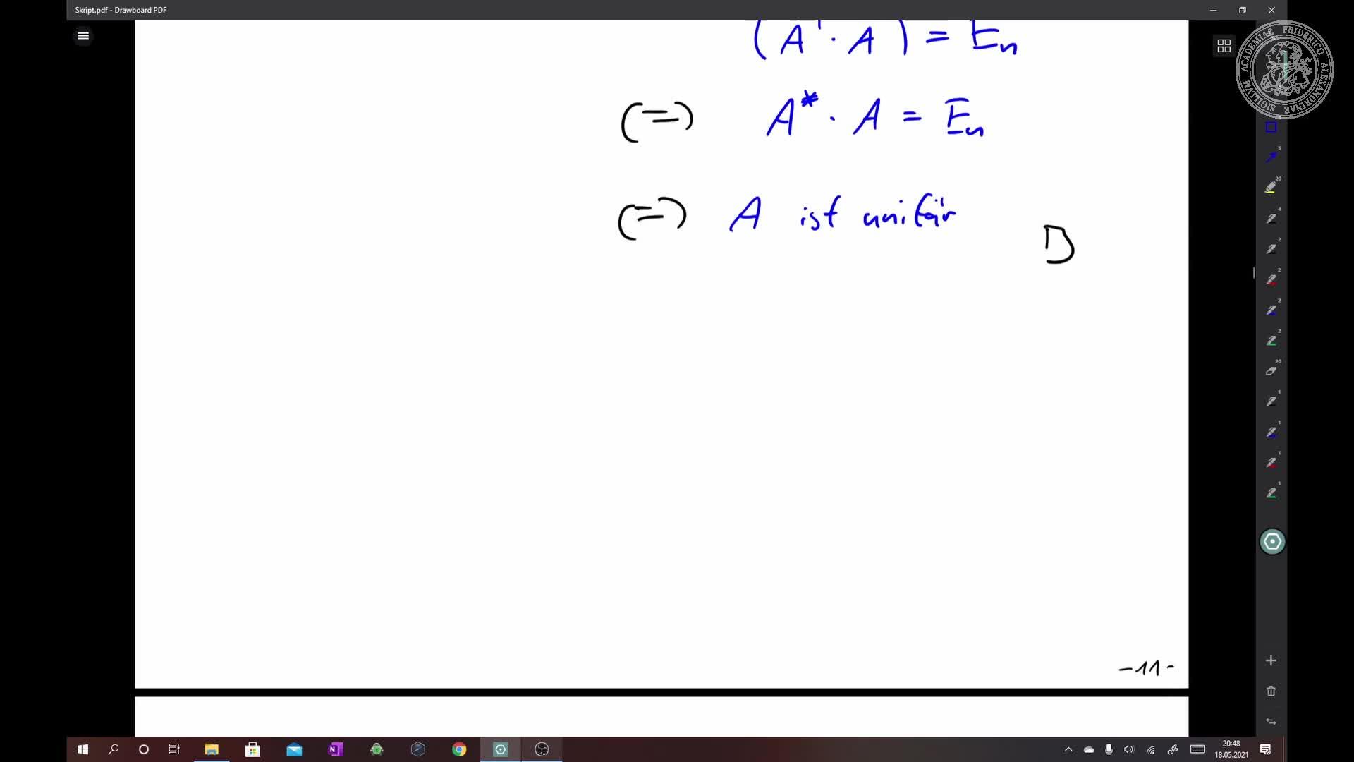 Normalform von orthogonalen und unitären Endomorphismen preview image