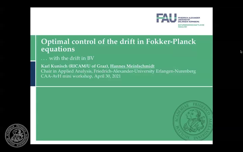 Control of Fokker-Planck with BV drift (H. Meinlschmidt, FAU Erlangen-Nürnberg) preview image