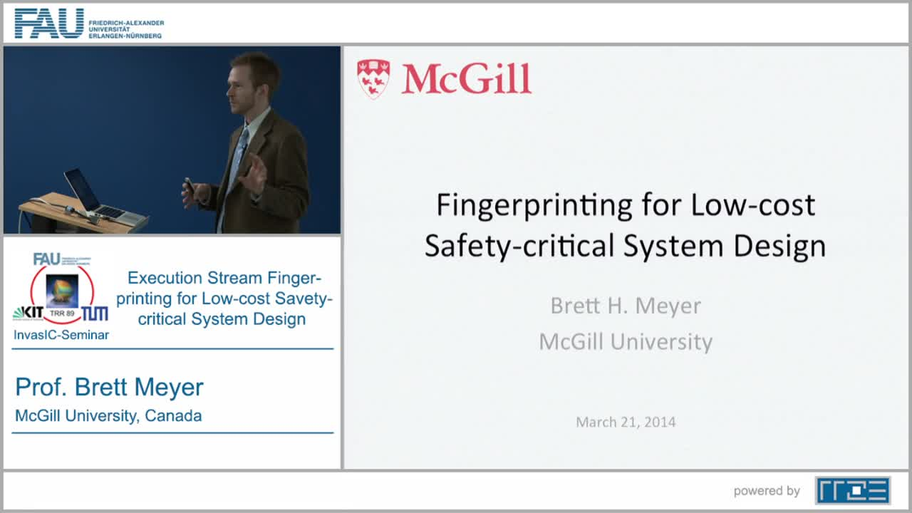 Execution Stream Fingerprinting for Low-cost Safety-critical System Design preview image