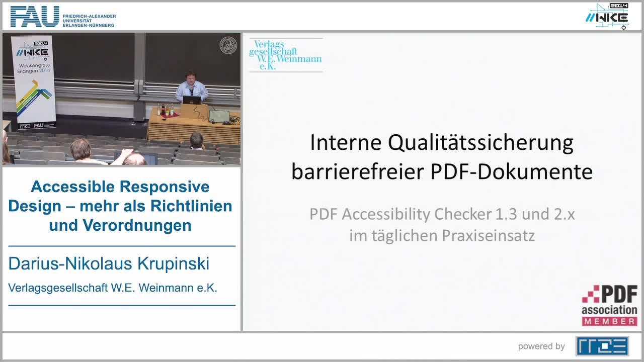 BF - Interne Qualitätssicherung barrierefreier PDF-Dokumente preview image
