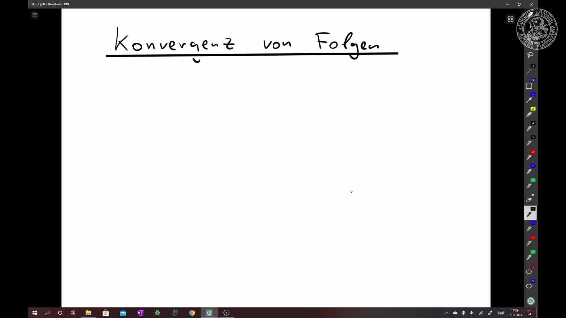 Konvergenz von Folgen preview image
