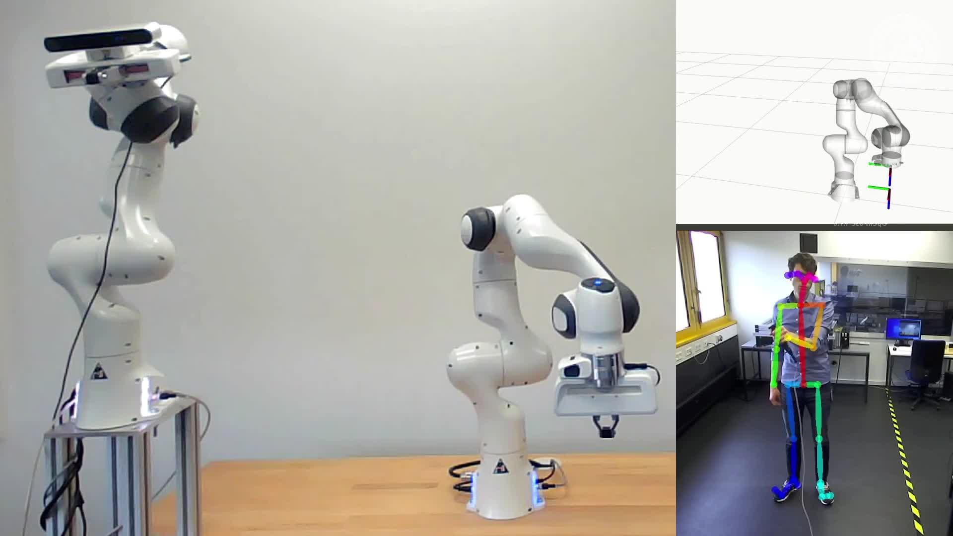 Skeleton Tracking using Model Predictive Interaction Control - #3 LRT Robotics Hackathon preview image