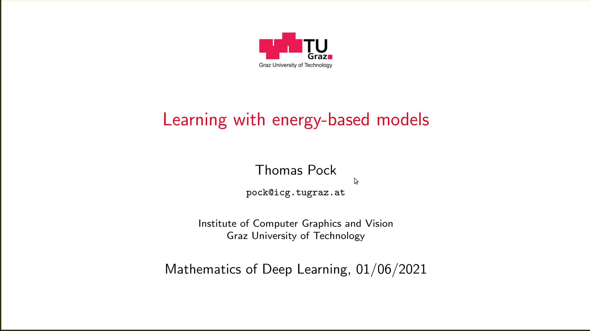 Learning with energy-based models preview image