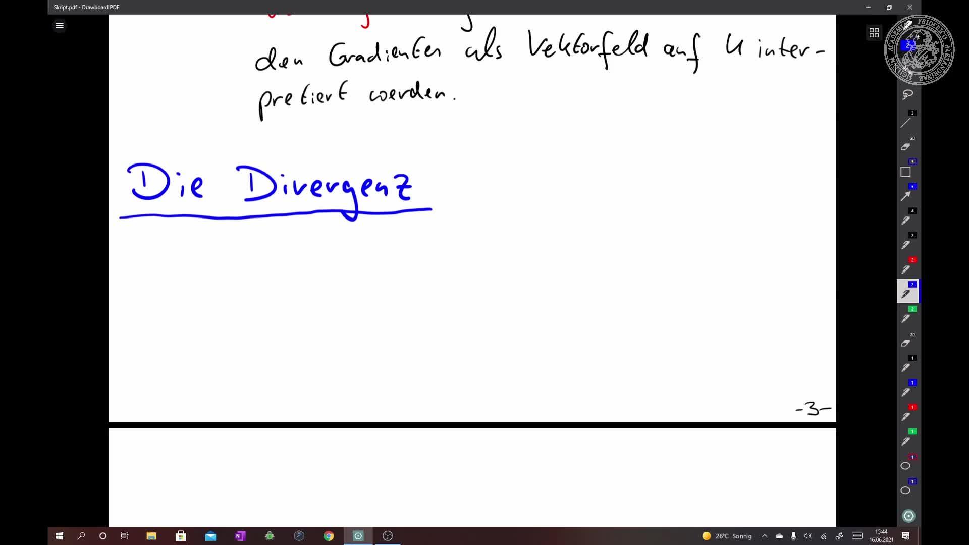 Die Divergenz eines Vektorfelds preview image