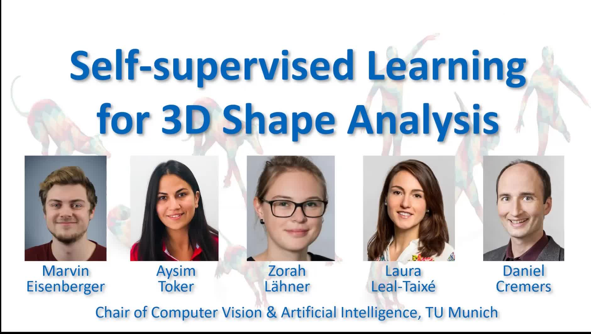 Self-supervised Learning for 3D Shape Analysis preview image