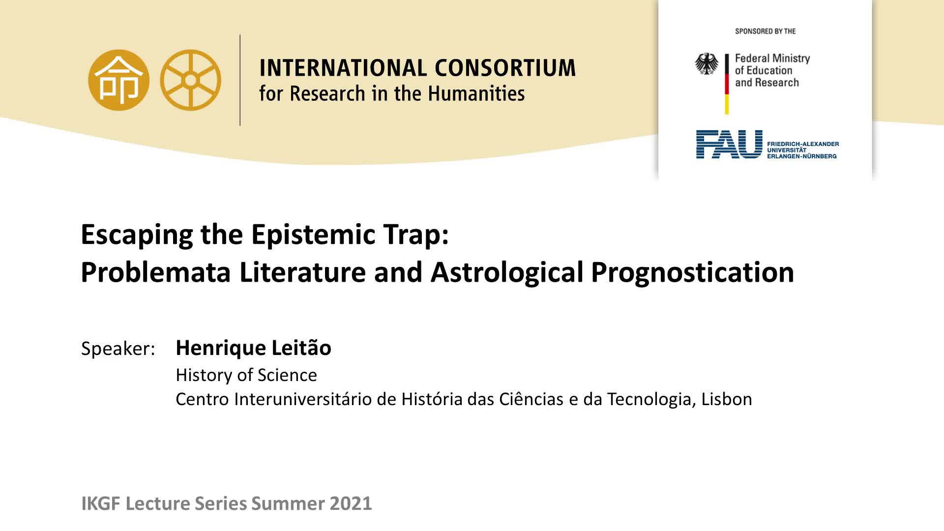 Escaping the Epistemic Trap: Problemata Literature and Astrological Prognostication preview image