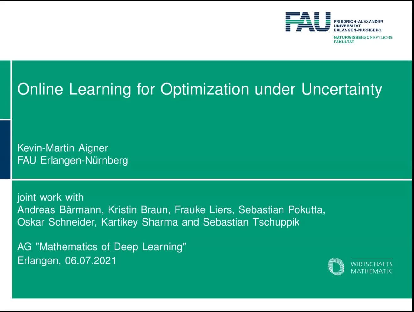 Online Learning for Optimization Problems with Unknown or Uncertain Cost Functions preview image