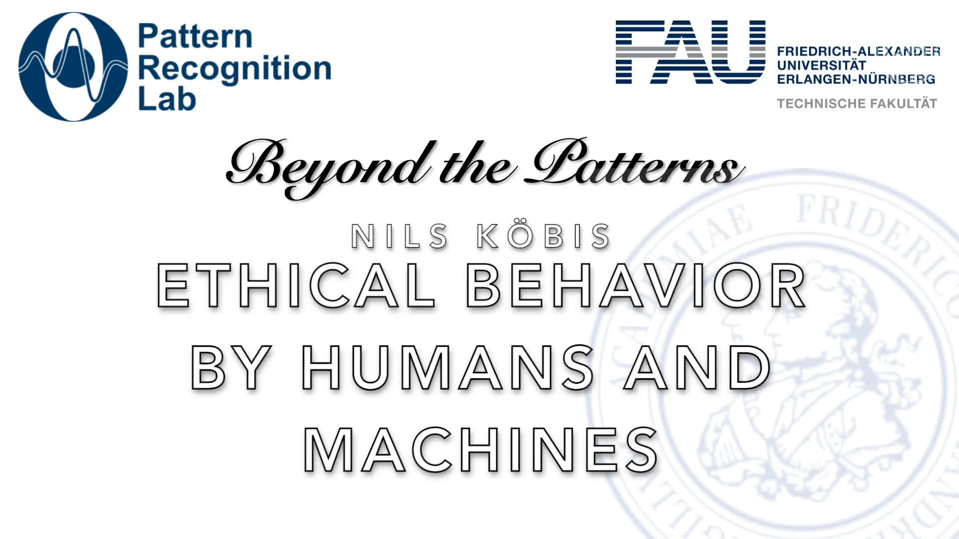 Beyond the Patterns - Nils Köbis: Ethical Behavior by Humans and Machines preview image