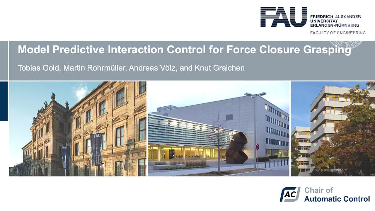 Model Predictive Interaction Control for Force Closure Grasping preview image
