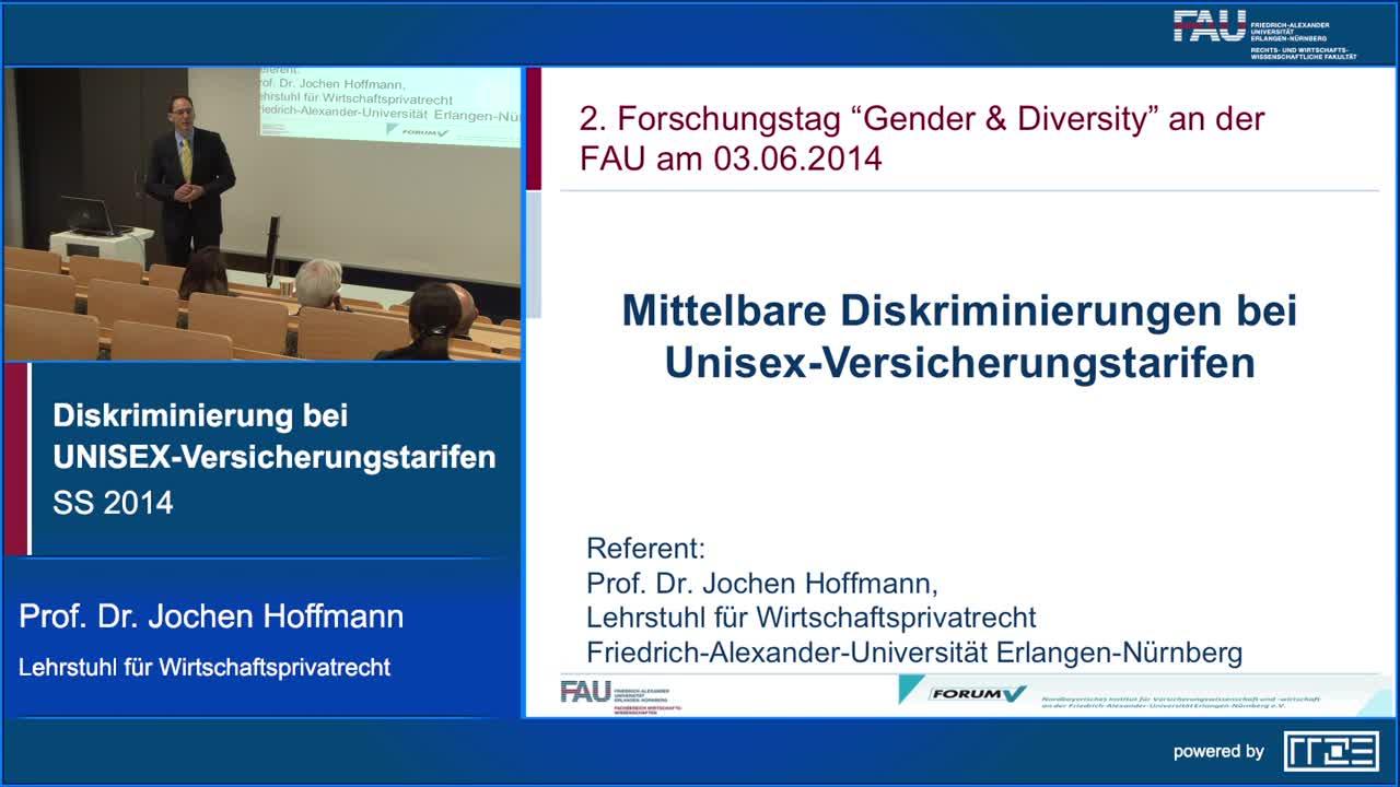 Verdeckte und unmittelbare Diskriminierung bei UNISEX-Versicherungstarifen preview image