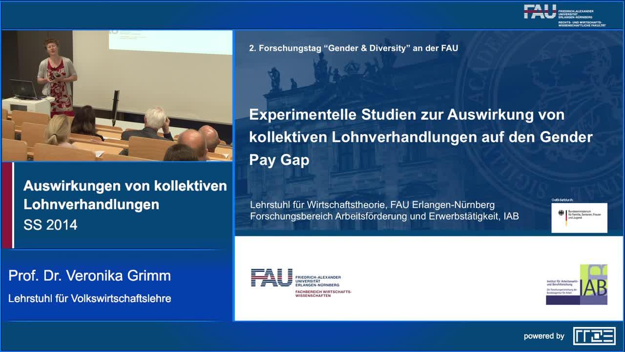 Experimentelle Studien zur Auswirkung von kollektiven Lohnverhandlungen auf den Gender Wage Gap preview image