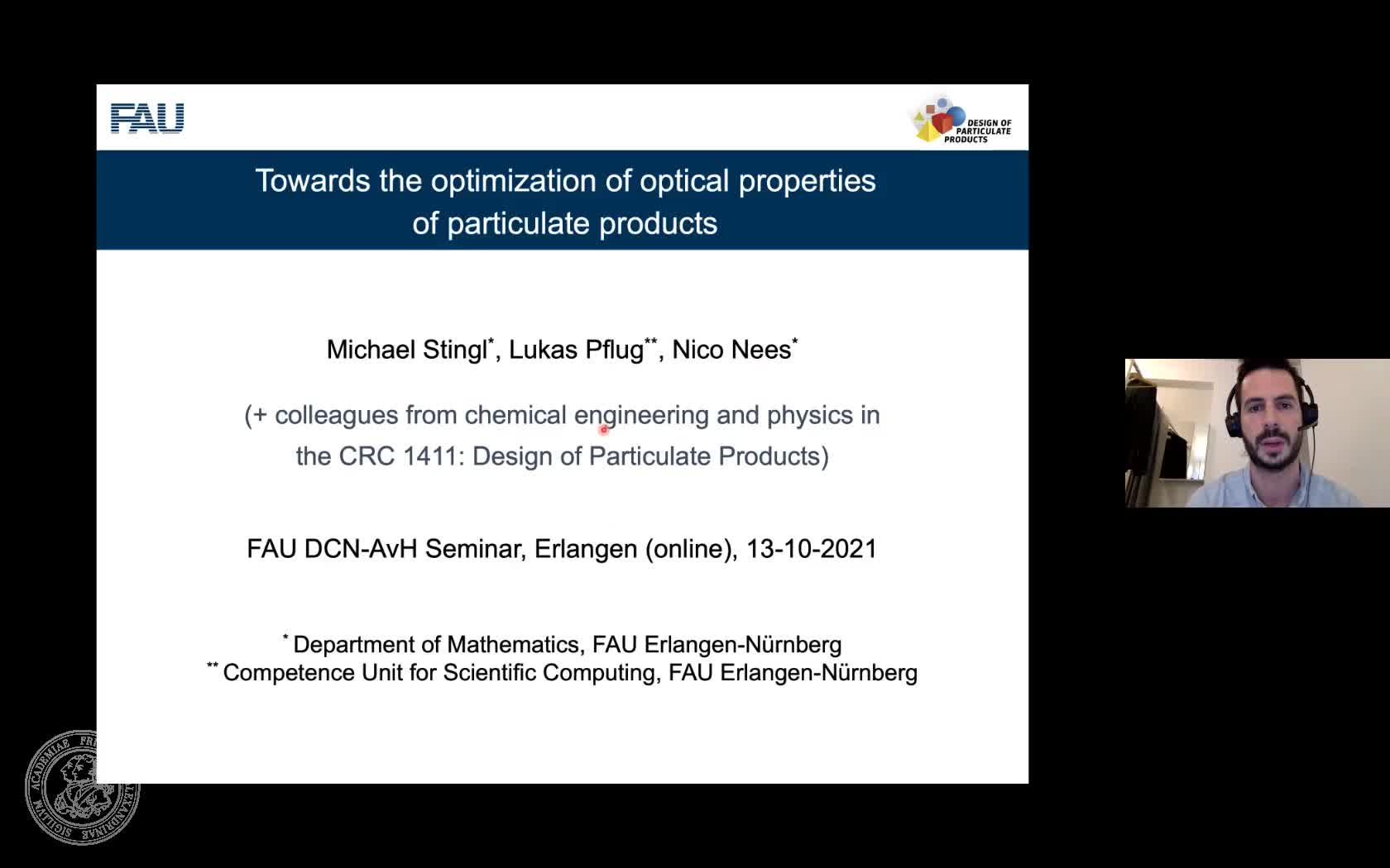 Towards the optimization of optical properties of particulate products (M. Stingl, FAU) preview image