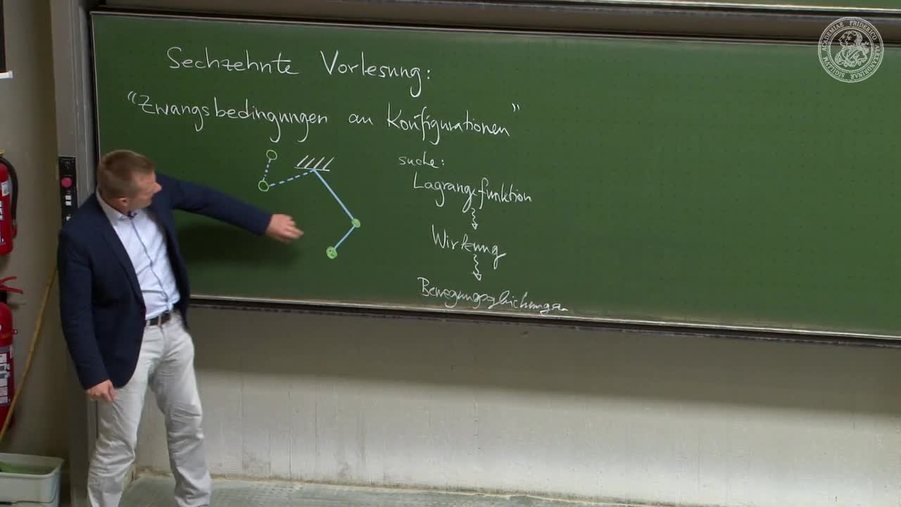 Theoretische Mechanik: Zwangsbedingungen an Konfigurationen preview image