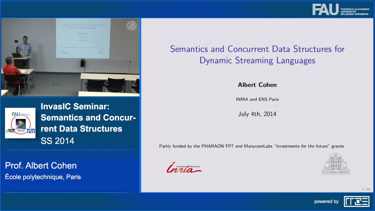 Semantics and Concurrent Data Structures for Dynamic Streaming Languages preview image