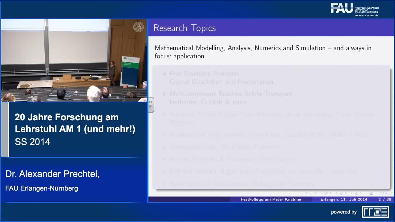 20 Jahre Forschung am Lehrstuhl AM 1 (und mehr!) preview image