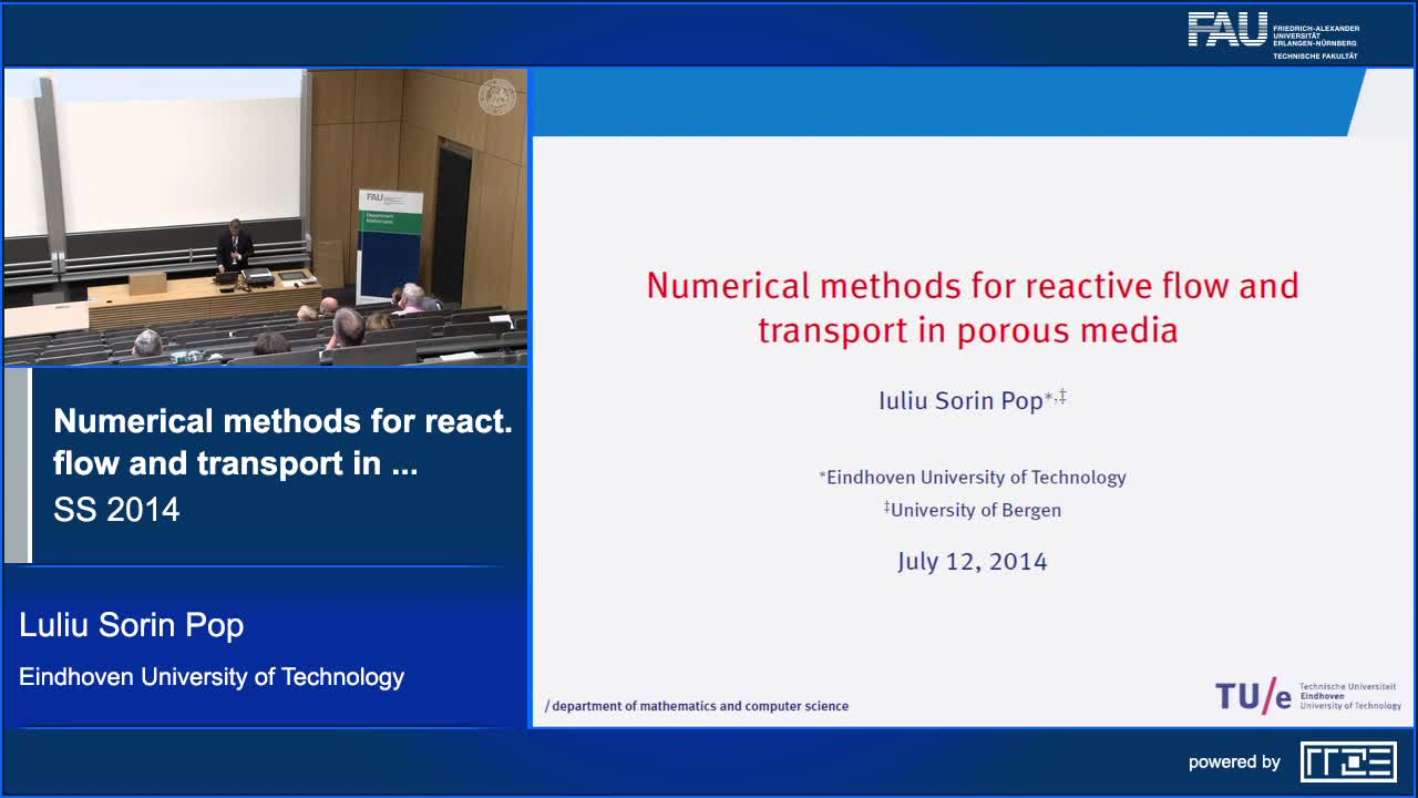 Numerical methods for reactive flow and transport in porous media preview image