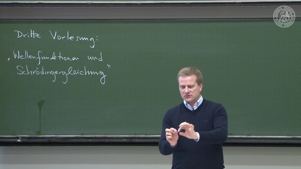 Theoretische Quantenmechanik: Wellenfunktionen und Schrödingergleichung preview image