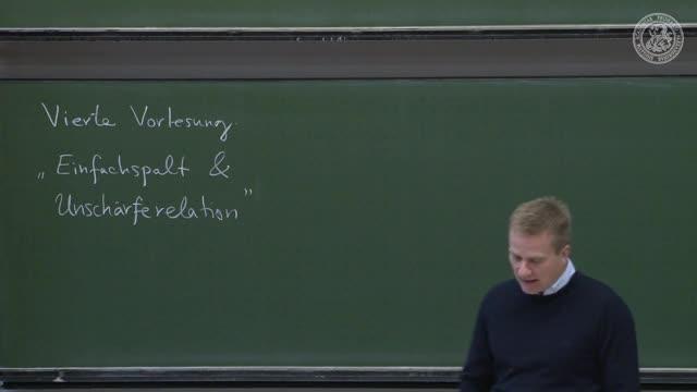 Theoretische Quantenmechanik: Einfachspalt und Unschärferelation preview image
