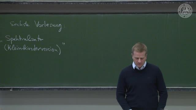 Theoretische Quantenmechanik: Spektralsatz (Kleinkinderversion) preview image