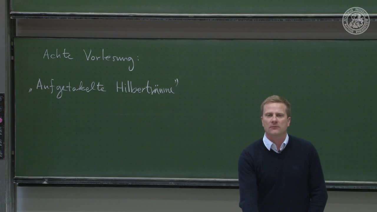 Theoretische Quantenmechanik: Aufgetakelte Hilberträume preview image