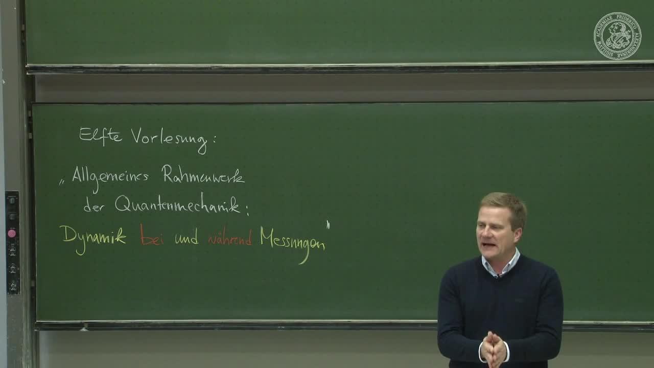Theoretische Quantenmechanik: Allgemeines Rahmenwerk der QM: Dynamik bei und zwischen Messungen preview image