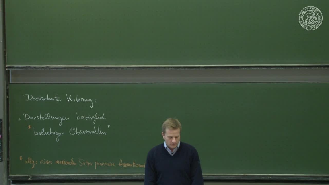 Theoretische Quantenmechanik: Darstellungen bezüglich beliebiger Observablen preview image